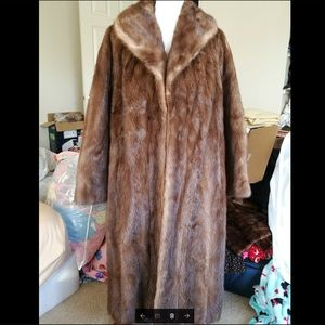 100% Genuine Mink fur coat.